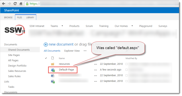 SharePoint-Defaultaspx
